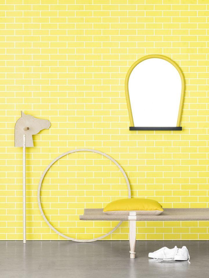 AcneJR tegel yellow Photowall