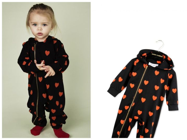 mini rodini heart onesie